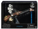 Star Wars Black Series Deluxe 6 inch Biker Scout & Speeder Bike Set Hasbro